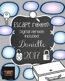 Digital and Non Digital Escape Room:  Danielle