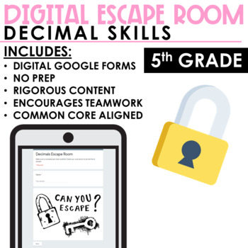 Escape Room Decimals
