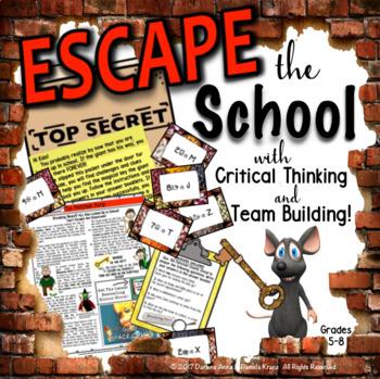 ESCAPE ROOM ELA COMPREHENSION & WRITING BREAK OUT ACTIVITY
