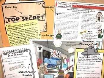 ESCAPE ROOM ELA COMPREHENSION & WRITING ACTIVITY
