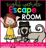 Escape Room ELA Sight Words Kindergarten-1st