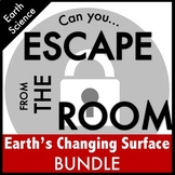 Science Escape Room: Earth's Changing Surface Bundle