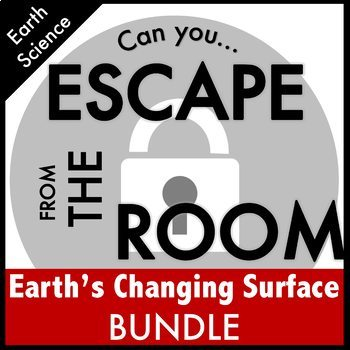 Earth's Changing Surface Bundle Science Escape Room