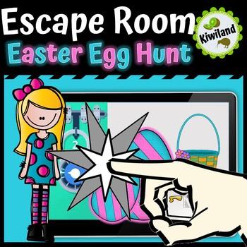 Escape Room: Easter Egg Hunt - Spring Boom Learning Cards