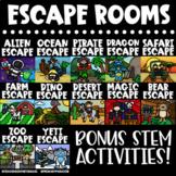 Escape Room: Editable GROWING Bundle