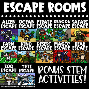 Escape Room Templates | Editable Escape Room Math and Literacy in ONE!