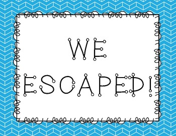 Escape Room End Of Game Signs