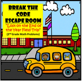 End of Year-2nd Grade Digital Escape Room-Distance Learning-Google Forms-Math