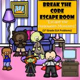 Escape Room (Escape the Halloween Monsters)-1st Grade Language Arts
