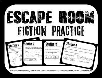Escape Room - Fiction Test Prep - Middle School