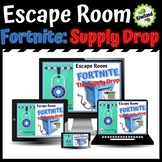 Escape Room: Fortnite - The Supply Drop - Math Mystery Boom Learning Cards