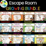 Escape Room Year-Long BUNDLE! Breakout Activities for Pre-