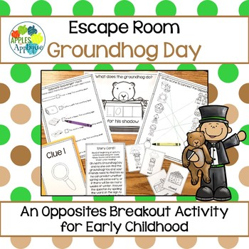 Escape Room: Groundhog Day! Opposites Breakout Activity
