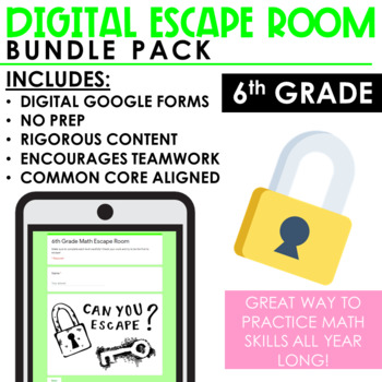 Escape Room Growing Bundle - 6th Grade