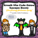 Escape Room (Halloween Mystery)-3rd Grade Math Computation & Word Problems