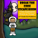 Halloween-2nd Grade Digital Escape Room-Distance Learning-Google Forms-Reading