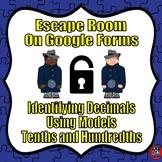 Digital Escape Room-Identifying Decimals--Tenths and Hundredths-Google Forms