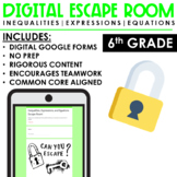 Distance Learning   Expressions, Equations, Inequalities   Escape Room