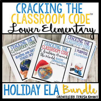 Escape Room Language Arts Bundle Lower Elementary Cracking the Classroom Code™