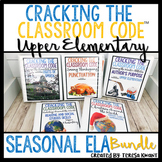Escape Room Language Arts Bundle Upper Elementary Cracking the Classroom Code™