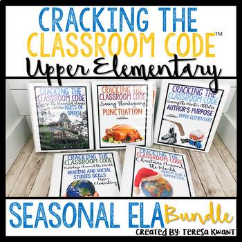 Escape Room Language Arts Bundle Upper Elementary Cracking the Classroom Code™