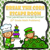 Escape Room (Leprechaun's Brother)-3rd Grade Math Computation & Word Problems