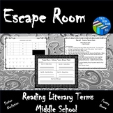Escape Room - Literary Terms - Middle School