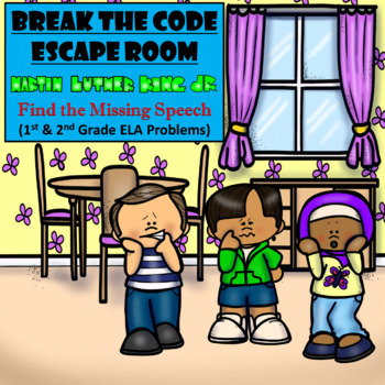 Escape Room (MLK's Missing Speech)-1st & 2nd Grade Language Arts