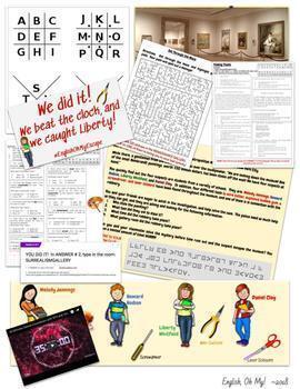 Main Idea Theme Context Clues Murder Mystery Digital Escape Escape Room
