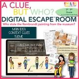Main Idea, Theme, Context Clues Murder Mystery, Digital Es