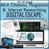 Escape Room, MLA Citations, Plagiarism, Digital Breakout