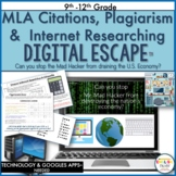 MLA Citations & Plagiarism Digital Escape Room, Digital Escape Ⓡ