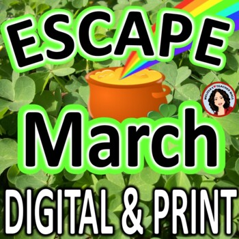 St Patrick's Day Escape Room March Activity