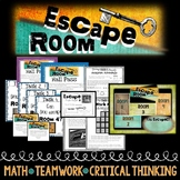 Escape Room-Math Based, Team Building, Review or Back to School
