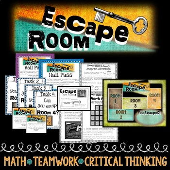 Math Escape Room-Math Based, Team Building, Review or Back ...