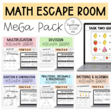 Escape Room Math MEGA Bundle - Year 5 & 6