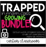 Escape Room Math - Trapped In Math Class Bundle