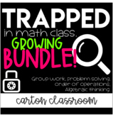 Escape Room Math - Trapped In Math Class Bundle