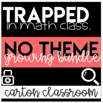 Escape Room Math - Trapped In Math Class Bundle (NO THEMES)