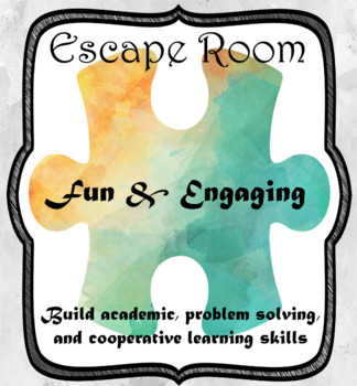 Escape Room (Mermaid's Lost Treasure)-1st Grade Math Calculation & Word Problems