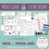 Escape Room Mini Math Game - Digital or Printable with Phy