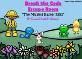 Escape Room (Missing Easter Eggs)-1st Grade Math Computation & Word Problems