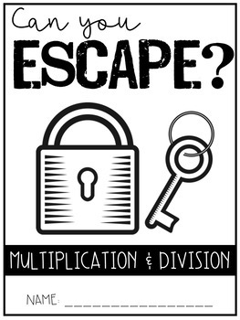 Escape Room - Multiplication and Division