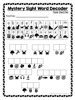 Escape Room ELA Mystery Sight Word Kindergarten and 1st Grade Activity
