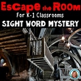 Escape Room ELA Mystery Sight Word Kindergarten and 1st Grade Activity