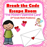 Escape Room (Mystery Valentine Card)-3rd Grade Math Computation & Word Problems