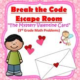 Escape Room (Mystery Valentine Card)-3rd Grade Math Computation & Word Problems