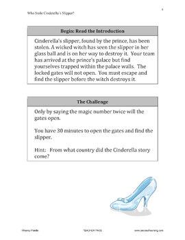Escape Room Mystery - Who Stole Cinderella's Slipper