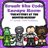 Escape Room (Mystery at the Museum)-3rd Grade Math Computation & Word Problems