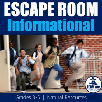 Escape Room: Natural Resources (Informational Text)